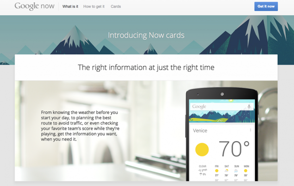 Grafik: Google Now