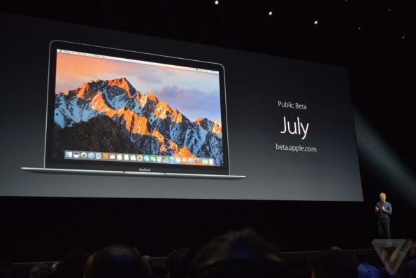Wie von Apple versprochen: Die öffentliche Beta von macOS Sierra kommt im Juli. (Foto: The Verge)