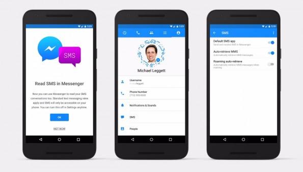 SMS-Nachrichten könnt ihr jetzt direkt im Facebook-Messenger verwalten. (Bild Facebook)