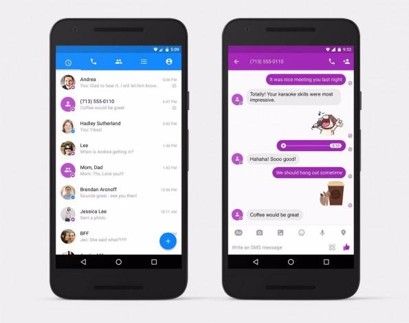 Ist die SMS-Funktion aktiviert, werden eingehende SMS-Nachrichten farblich abgehoben. (Bild: Facebook)