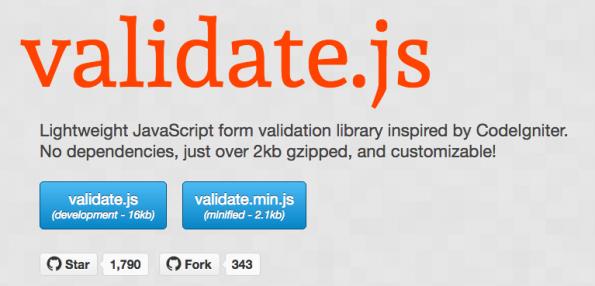 HTML-Formulare richtig validieren. (Screenshot: Validate.js)