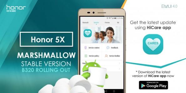 Das Marshmallow-Update erreicht auch das Honor 5X. (Bild: Honor)