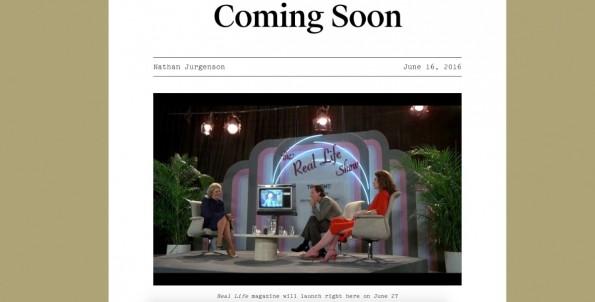 Snapchat will noch in diesem Monat ein eigenes Debatten-Magazin veröffentlichen. (Screenshot: Reallifemag.com