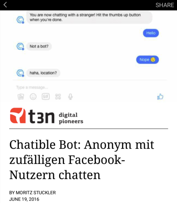 t3n-Beitrag als Instant Article. (Screenshot: t3n.de)