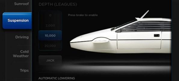 Im Telsa Model S ist ein schickes Easter-Egg versteckt: der Lotus Esprit. (Bild: Jalopnik)