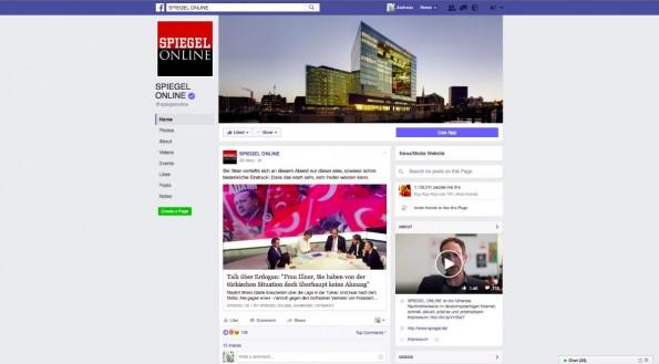 Facebook Redesign: Mittleres Profilbild, mittlerer Header. (Screenshot: t3n.de)