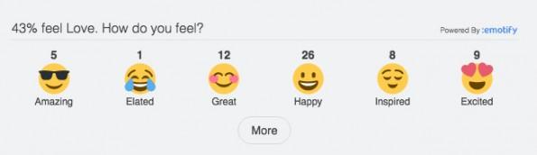 Wie Facebook-Reactions für euren Blog: Emotify lässt Nutzer mit Emojis auf eure Beiträge reagieren. (Screenshot: goemotify.com)