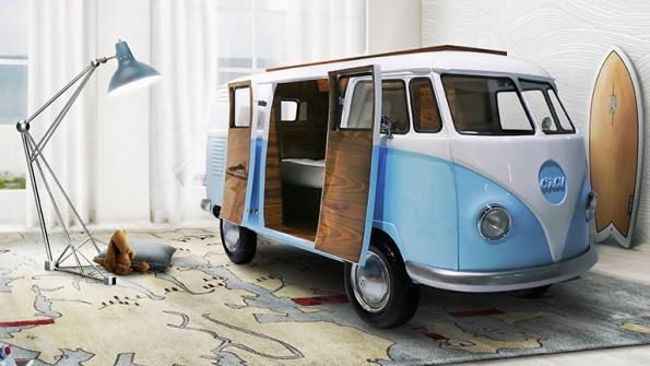 Nappen mit Style: Die Schlafkoje als VW-Van. (Foto: Circu Furniture)