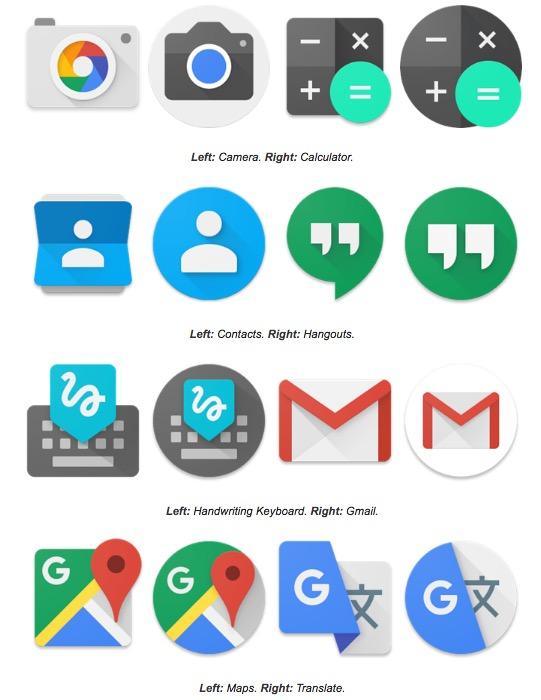 Android 7.1 bringt ein neues Icons-Design mit sich – ob es Pixel-exklusiv sein wird, bleibt abzuwarten. (Bild: Android Police)