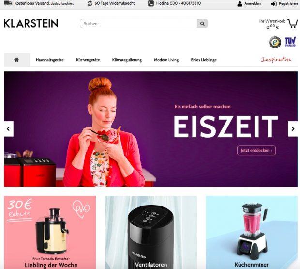 (Screenshot: Klarstein.com)