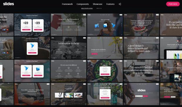Slides von Designmodo: letztlich auch eine Variante kartenbasierten Designs. (Screenshot: t3n)