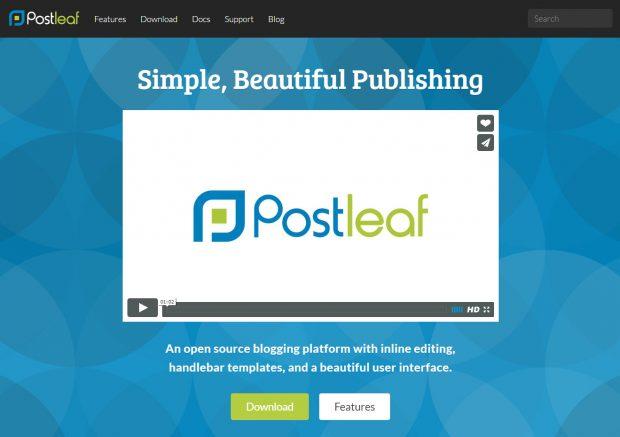 Die Projektseite von Postleaf. (Screenshot: t3n)