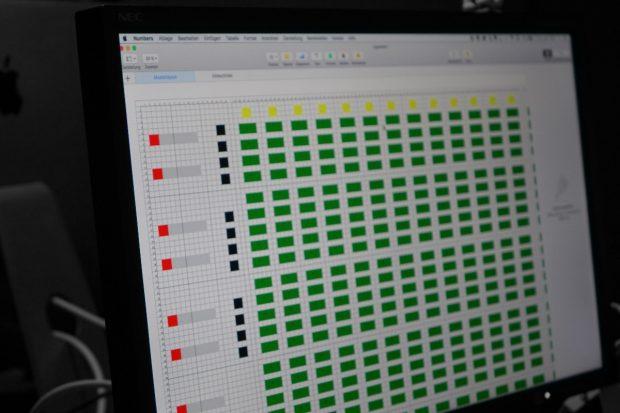Zunächst wurde ein digitaler Plan entworfen, der dann analog umgesetzt wurde. (Foto: Format D)