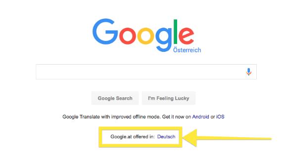 Screenshot: Google