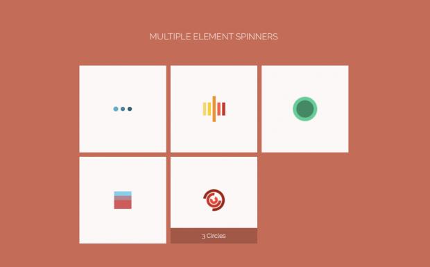 So sehen die CSS-Spinners aus. (Screenshot: t3n)
