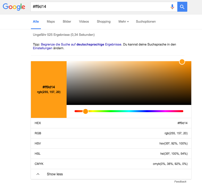 (Screenshot: google.de)