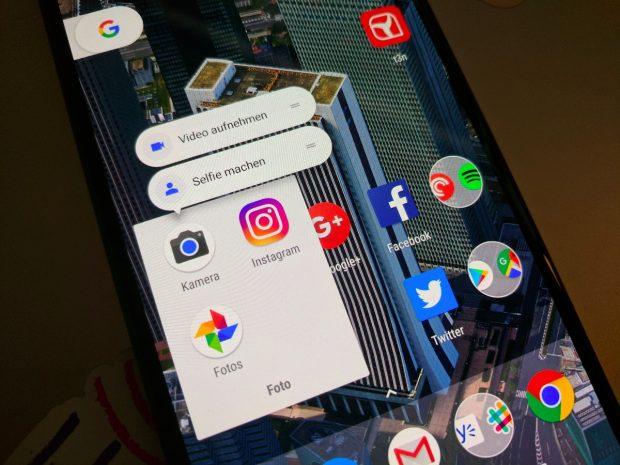 Die App-Shortcuts kommen mit Android 7.1.1 Nougat auf alle Geräte. (Foto: t3n)
