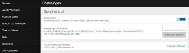 Obacht: Über Amazon Echo könnt ihr auch Einkäufe vornehmen. (Bild: t3n)