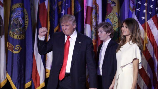Der neue US-Präsident: Donald J. Trump feiert seinen Wahlsieg. (Foto: dpa)