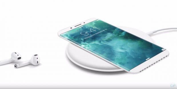 iPhone-8-Konzept: Wenig Rahmen und kabellos aufladbar. (Bild: ConceptiPhones)