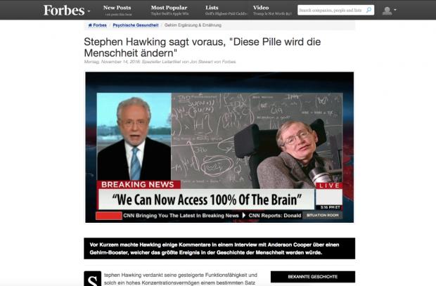 Mit solchen Fake-Nachrichten werben die Spammer für angebliche Wunder-Pillen.