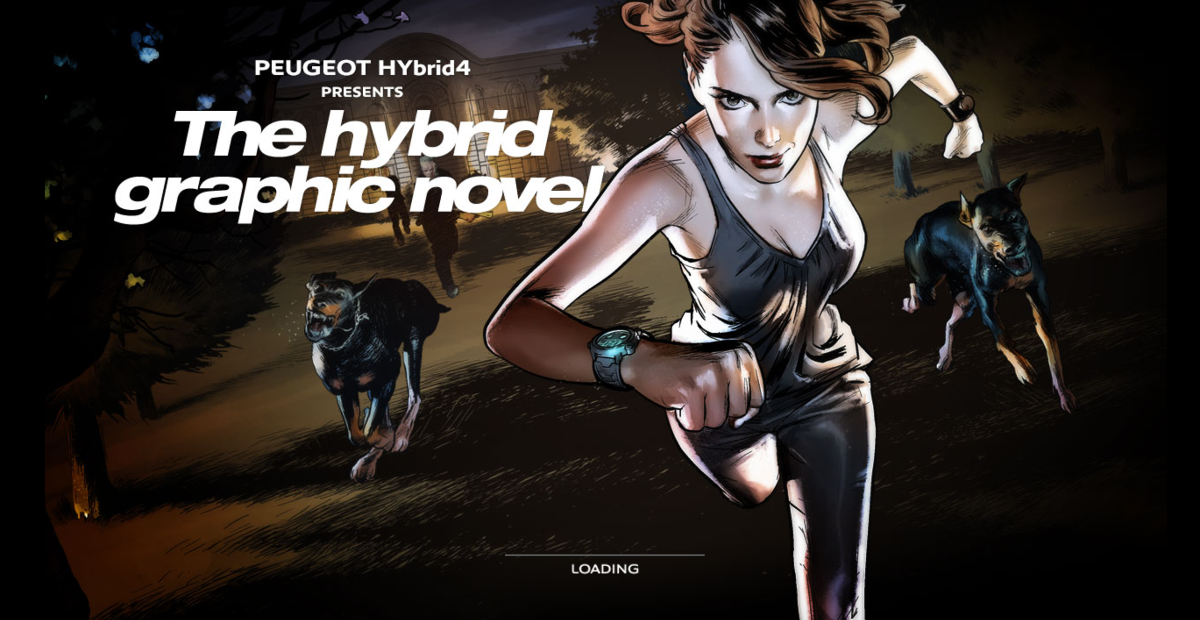 (Screenshot: graphicnovel-hybrid4.peugeot.com)