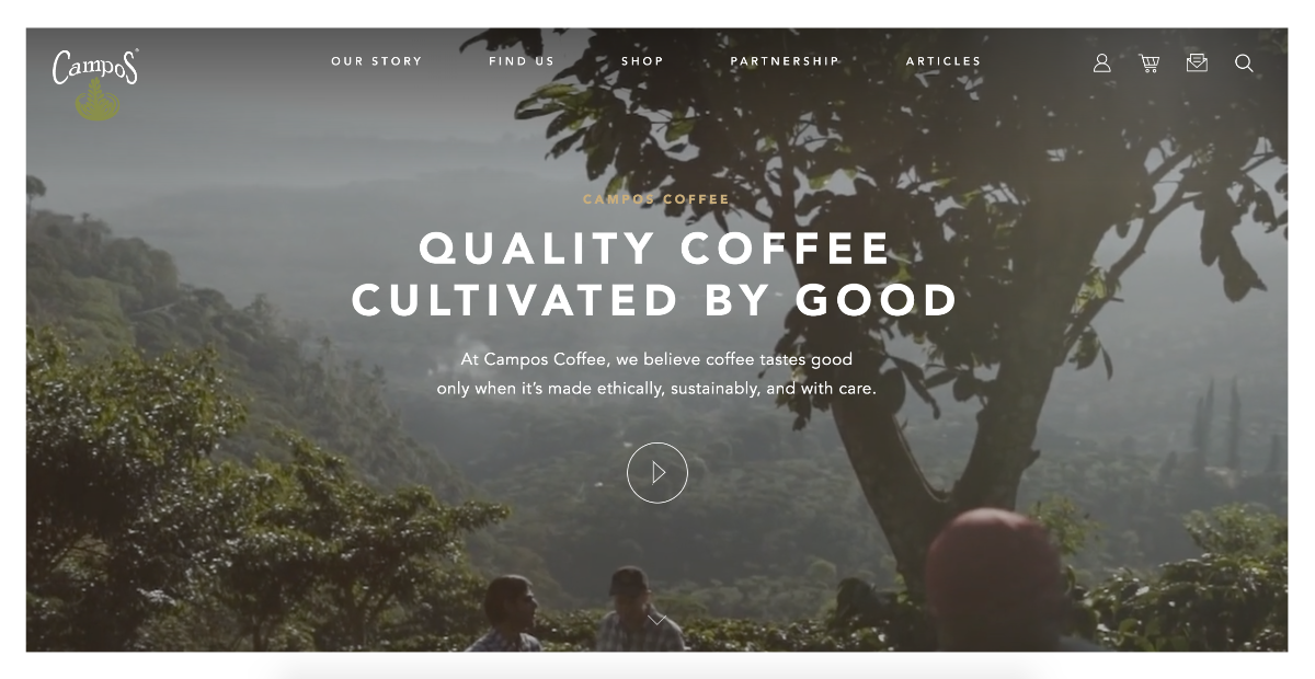 (Screenshot: camposcoffee.com)