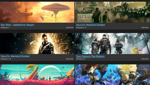 Dual-Monitor-Wallpaper für Computerspielfreaks. (Screenshots: gamewallpapers.com)