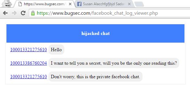 Hacker haben über eine Sicherheitslücke private Nachrichten im Facebook Messenger abgefangen. (Screenshot: Cynet)