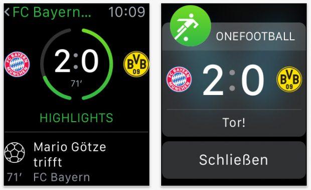 Onefootball: Für die Bundesliga-Fans unter den Apple-Watch-Besitzern. (Screenshot: App-Store)