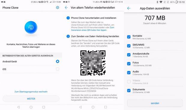 Phone Clone überträgt die Daten vom alten aufs neue Smartphone. (Bild: t3n)