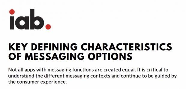 Infografik: Die wichtigsten Charakteristiken von Messaging-Lösungen. (Grafik: IAB)