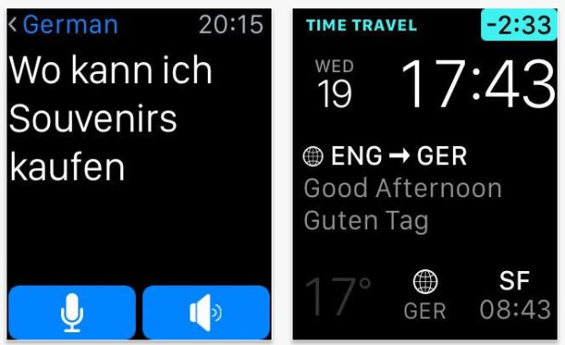 Apple-Watch-App: iTranslate überbrückt die Sprachbarriere. (Screenshot: App-Store)