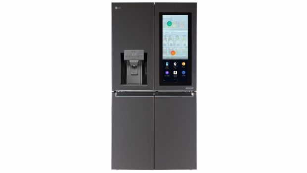 LGs Instaview-Kühlschrank: webOS und Alexa integriert. (Bild: LG)