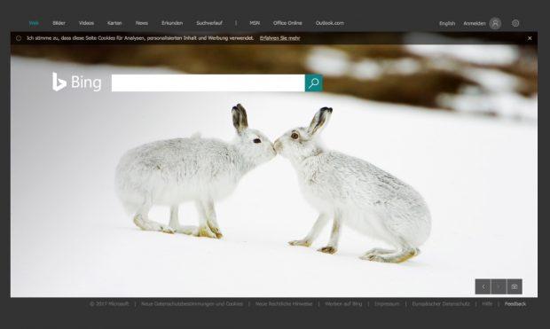 Mitarbeiter überwachen Microsoft-Suchmaschine Bing und E-Mail-Inhalte. (Screenshot: Bing/t3n)