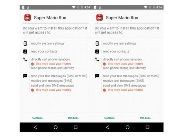 """Vorsicht! Bei dieser Fake-App handelt es sich nicht um """"Super Mario Run"""" für Android. (Bild: Zscaler)"""