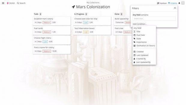 Zenkit: Das Projektmanagement-Tool bietet eine Reihe unterschiedlicher Projektansichten. (Screenshot: Zenkit)