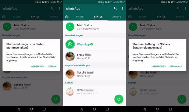 Whatsapp Stumme Meldung
