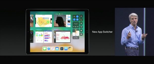 Das von macOS bekannte Dock kommt mit iOS 11 auch aufs iPad. (Screenshot: Apple)