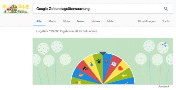 Google Geburtstagsüberraschung: Das erwartet Sie heute im Google-Logo
