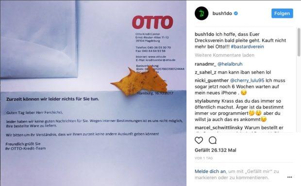 Brief Von Otto : Otto hält bushido für fake und verweigert lieferung t n