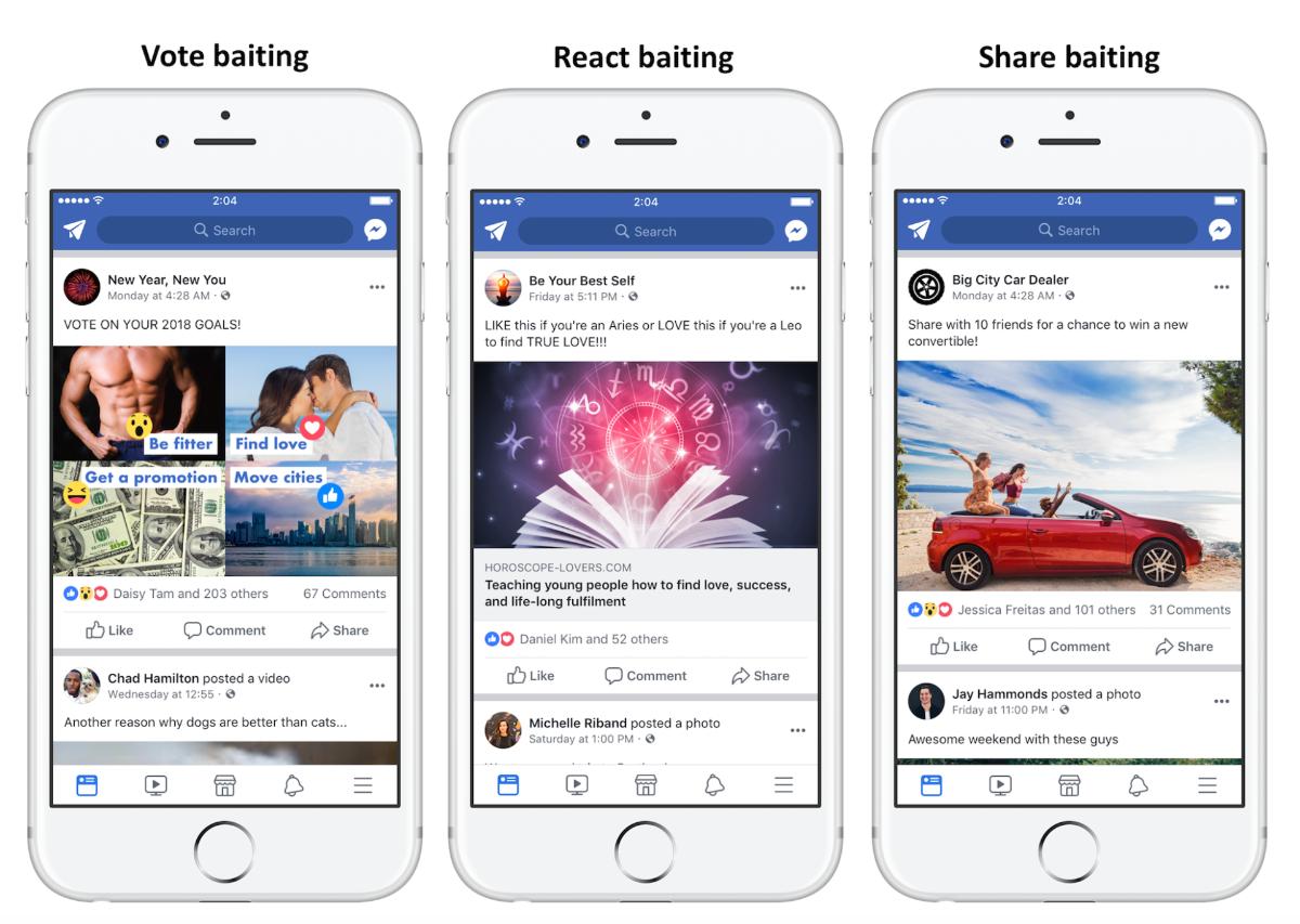 Facebook - Maßnahmen gegen Like-und Kommentar-Bettelei