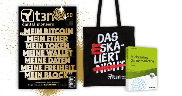t3n-Abo inklusive Online-Marketing-Fachbuch von Haufe