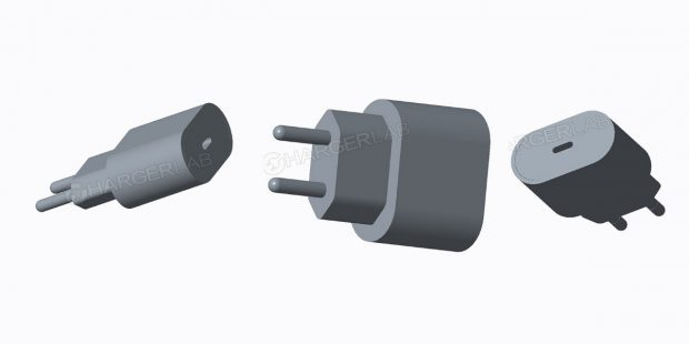 """Erste Renderbilder eines 18-Watt-Ladegeräts it USB-C-Anschluss. (Bild: <a href=""""http://chargerlab.com/2018/05/15/exclusive-2018-iphone-to-get-usb-c-to-lightning-fast-charging-cable-out-of-box/"""">Chargerlab</a>)"""