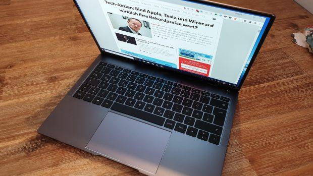 Matebook X Pro im Test: Als würde Huawei seit Ewigkeiten Notebooks bauen