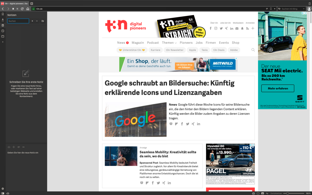 Ressourcensparender Browser