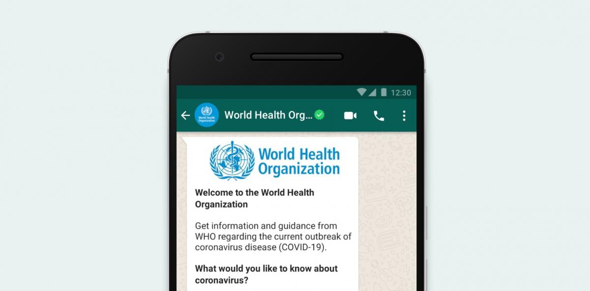 Coronavirus-News von der WHO jetzt auf Whatsapp