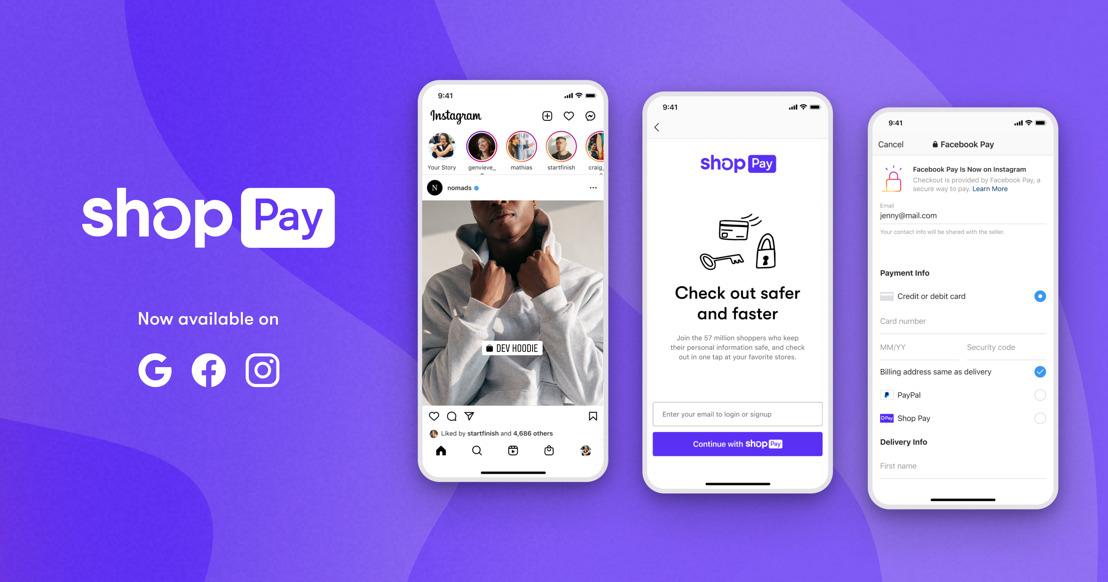 Shop Pay: Shopify bringt sein One-Click-Checkout zu Facebook und Google