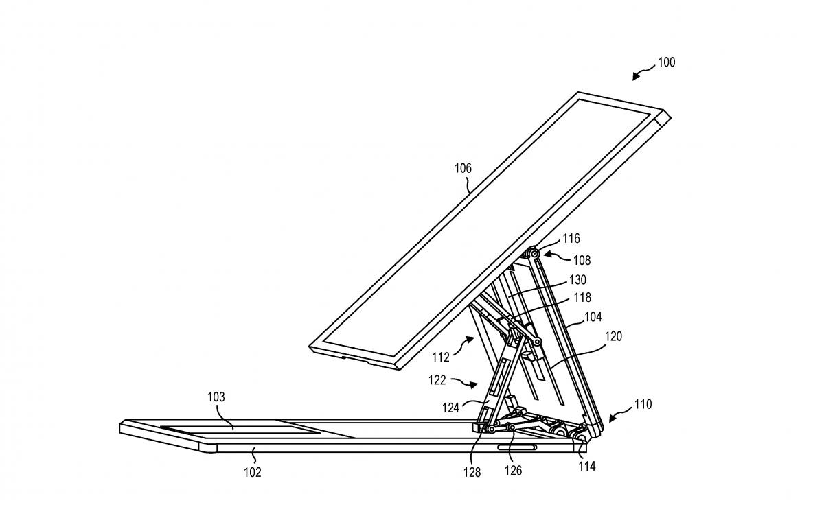 Microsoft-Patent für ungewöhnliches Notebook-Scharnier aufgetaucht